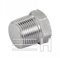 Male Hexagonal Cap Npt, Inconel 601