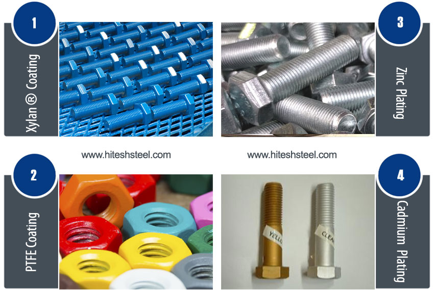 Teflon coated bolts