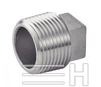 Square Head Male Plug, Inconel 601